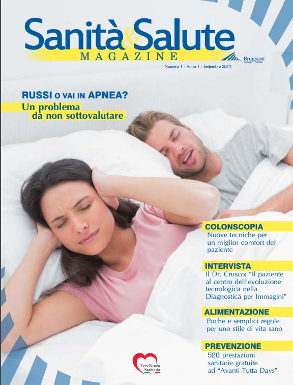 Brugnoni Group Sanità - Copertina Magazine n.1 anno 1 - Settembre 2017